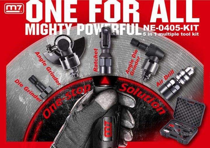 """Mighty Seven """"5 i 1"""" luftverktøy"""