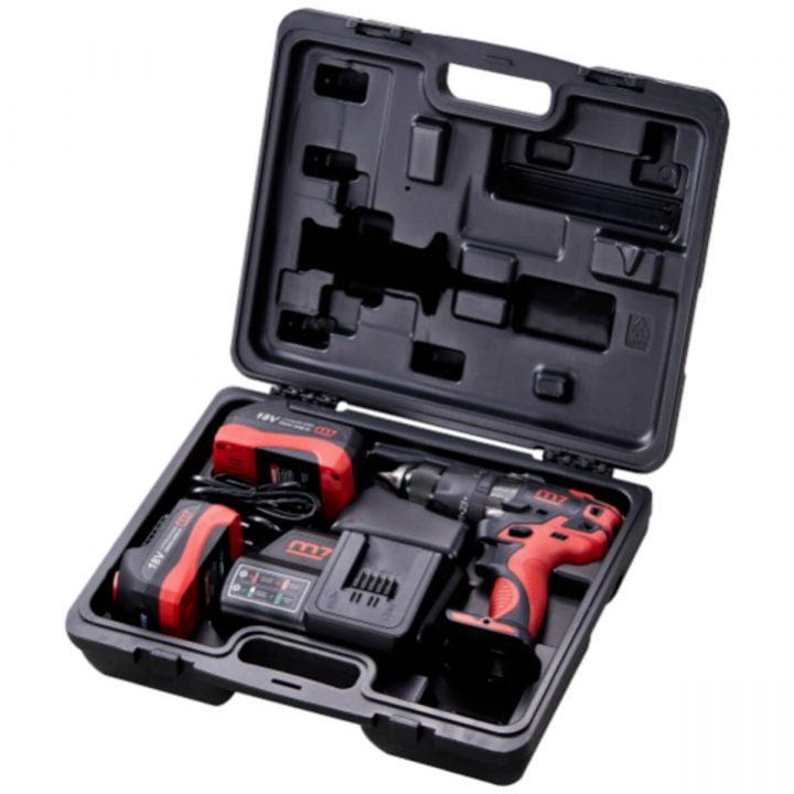 Mighty Seven bor-/skrutrekker 18V/5.0Ah (2 batteri/lader)