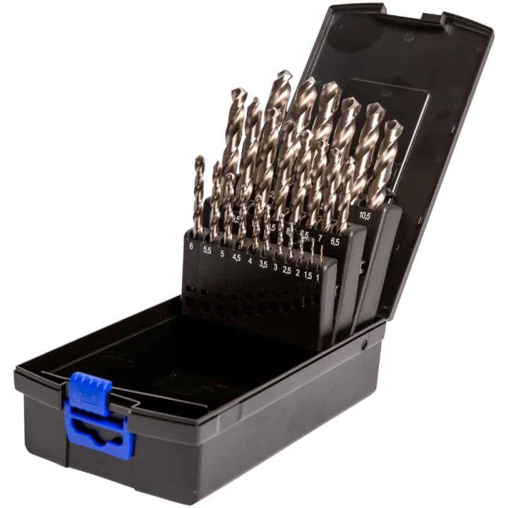 Bor Metall DIN338 HSS-G 01,00-13,00mm Borsett 1-13mm med 25 stk slipte HSS bor