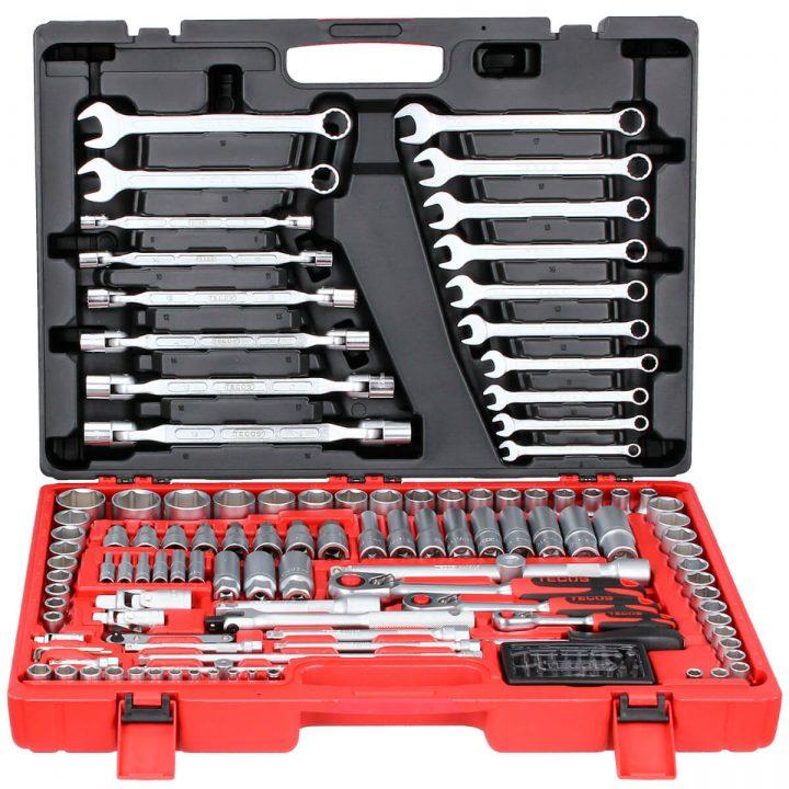 TECOS pipe-/nøkkelsettsett (148 deler)